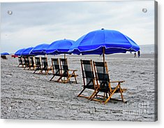Slow Day At The  Beach Acrylic Print by Thomas Marchessault