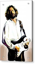 Slow Hand  Eric Clapton Acrylic Print by Iconic Images Art Gallery David Pucciarelli