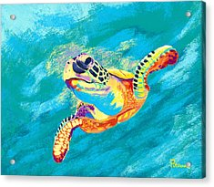 Slow Ride Acrylic Print by Kevin Putman