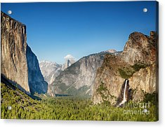 Small Clouds Over The Half Dome Acrylic Print by Jane Rix