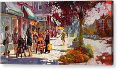 Small Talk In Elmwood Ave Acrylic Print by Ylli Haruni