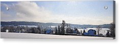 Small Village Acrylic Print by Aged Pixel