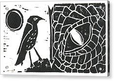 Smaug And The Thrush Acrylic Print by Lynn-Marie Gildersleeve