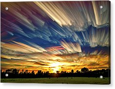Smeared Sky Sunset Acrylic Print by Matt Molloy