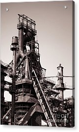 Smelting Furnace Acrylic Print by Olivier Le Queinec