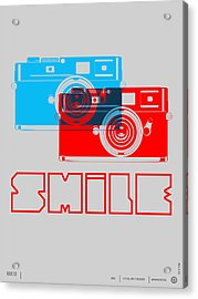 Smile Camera Poster Acrylic Print by Naxart Studio