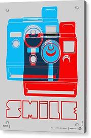Smile Polaroid Poster Acrylic Print by Naxart Studio
