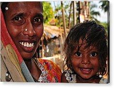 Smiling Eyes. India Acrylic Print by Jenny Rainbow