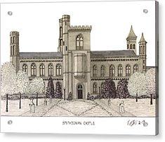 Smithsonian Castle Acrylic Print by Frederic Kohli