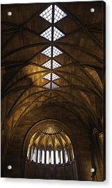 Smithsonian Castle Vaulted Ceiling Acrylic Print by Lynn Palmer