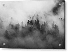 Smoke On The Mountain Acrylic Print by Aaron S Bedell