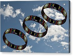 Smoke Rings In The Sky 1 Acrylic Print by Steve Purnell