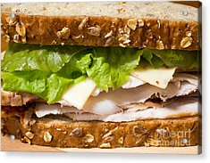 Smoked Turkey Sandwich Acrylic Print by Edward Fielding