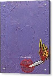 Smokers Club Acrylic Print by Lisa Piper Menkin Stegeman