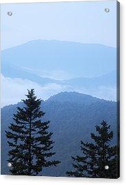 Smoky Mountain Overlook Acrylic Print by Andy Crawford