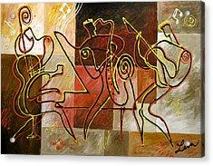 Smooth Jazz Acrylic Print by Leon Zernitsky