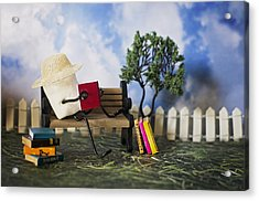 Smore Books Please Acrylic Print by Heather Applegate