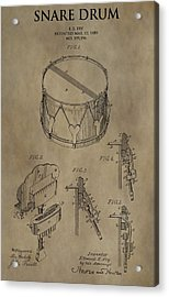 Snare Drum Patent Acrylic Print by Dan Sproul