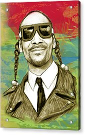 Snoop Dogg Art Sketch Poster Acrylic Print by Kim Wang