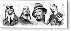 Snoop Dogg Group Art Drawing Sketch Poster 30x85cm Acrylic Print by Kim Wang
