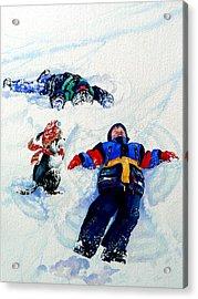 Snow Angels Acrylic Print by Hanne Lore Koehler