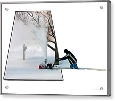 Snow Blower Acrylic Print by Thomas Woolworth
