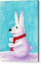 Snow Bunny Acrylic Print by Anastasiya Malakhova