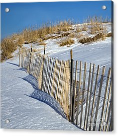 Snow Covered Dunes Acrylic Print by Twenty Two North Photography