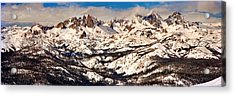Snow Covered Landscape, Mammoth Lakes Acrylic Print by Panoramic Images