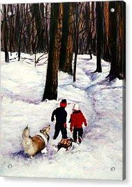 Snow Days Acrylic Print by Jeanne  McNally