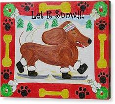 Snow Dog Acrylic Print by Diane Pape