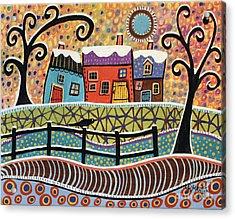 Snow Dusting Acrylic Print by Karla Gerard