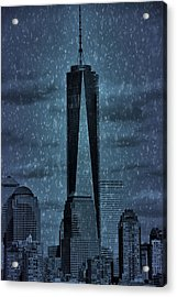 Snow In New York City Acrylic Print by Dan Sproul