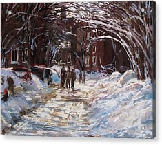 Snow In The City Acrylic Print by Jack Skinner