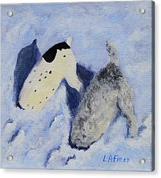 Snow Jacks Acrylic Print by Linda Freed