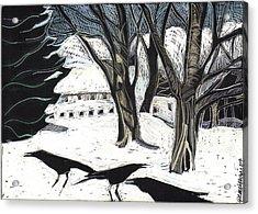 Snow Noise Acrylic Print by Grace Keown