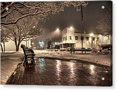 Snow Square - Color Acrylic Print by Jimmy McDonald