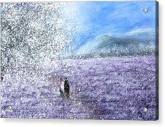 Snow Tree Acrylic Print by Kume Bryant