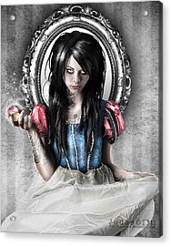 Snow White Acrylic Print by Judas Art