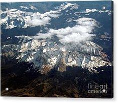 Snowcapped Mountains Acrylic Print by Eva Kato