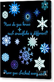 Snowflakes 2 Acrylic Print by Methune Hively