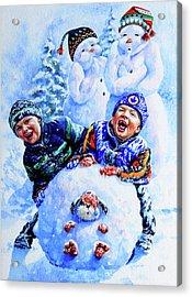 Snowmen Acrylic Print by Hanne Lore Koehler