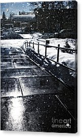 Snowy Afternoon Acrylic Print by HD Connelly