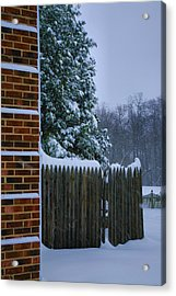 Snowy Corner Acrylic Print by Steven Ainsworth