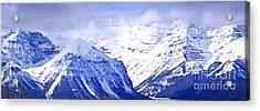 Snowy Mountains Acrylic Print by Elena Elisseeva
