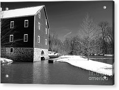 Snowy River Acrylic Print by John Rizzuto
