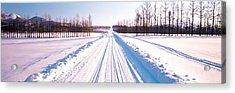 Snowy Road Hokkaido Shari-cho Japan Acrylic Print by Panoramic Images