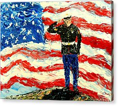 So Proudly They Hailed  Acrylic Print by Mark Moore