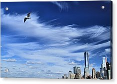 Soar Over New York City Acrylic Print by Dan Sproul