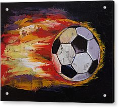 Soccer Acrylic Print by Michael Creese